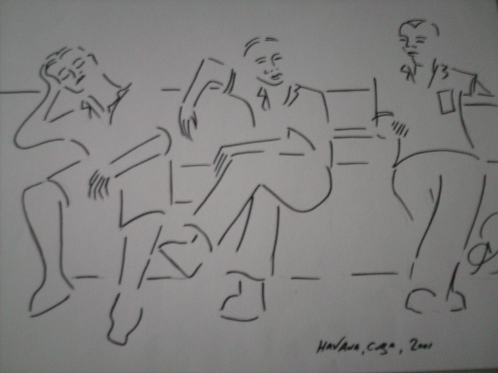 Siesta in Havana's Parque Central - from my Cuba sketchbook.