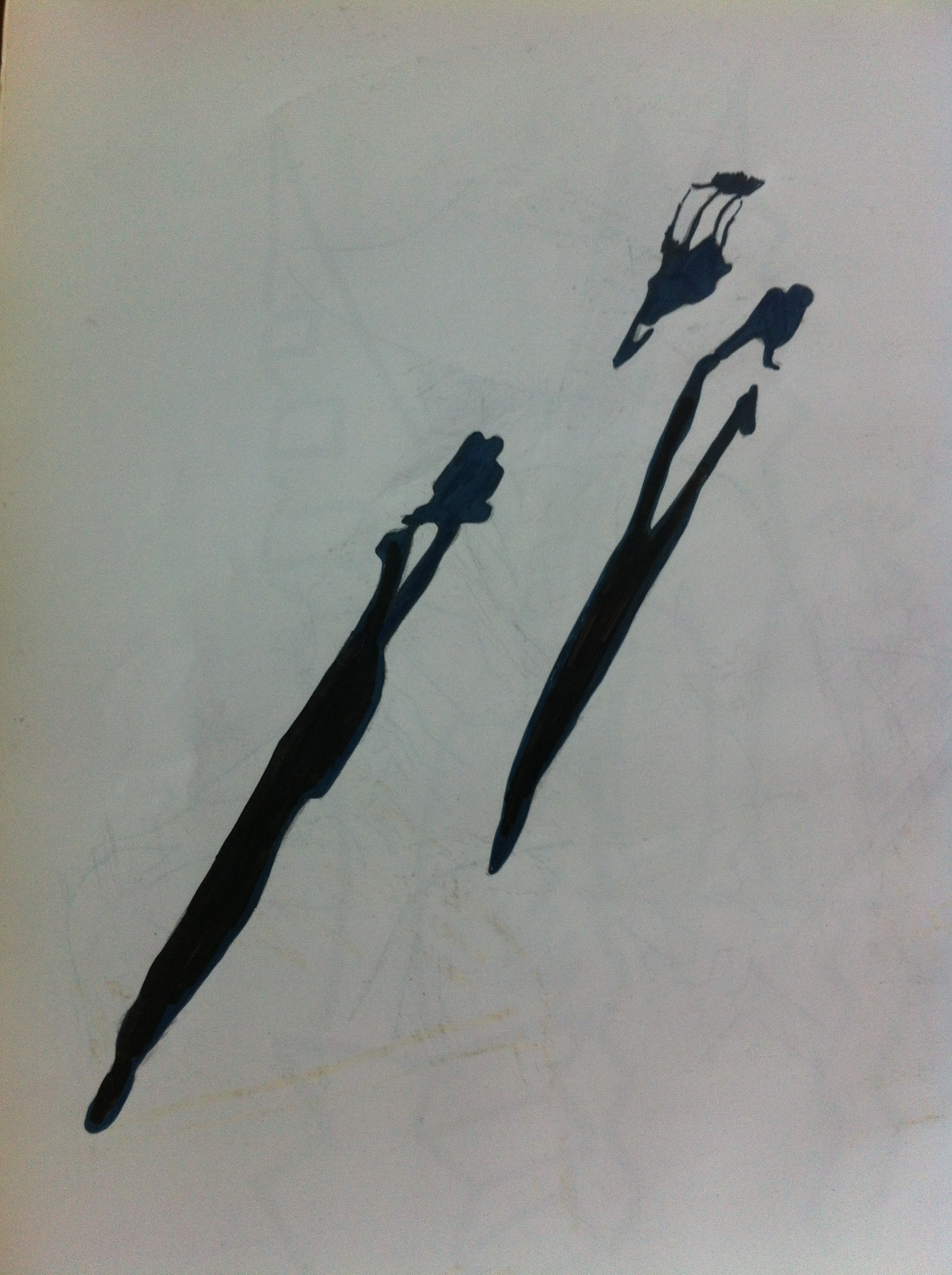 Sketch of shadows in Katowice, Poland by Ali Dunnell