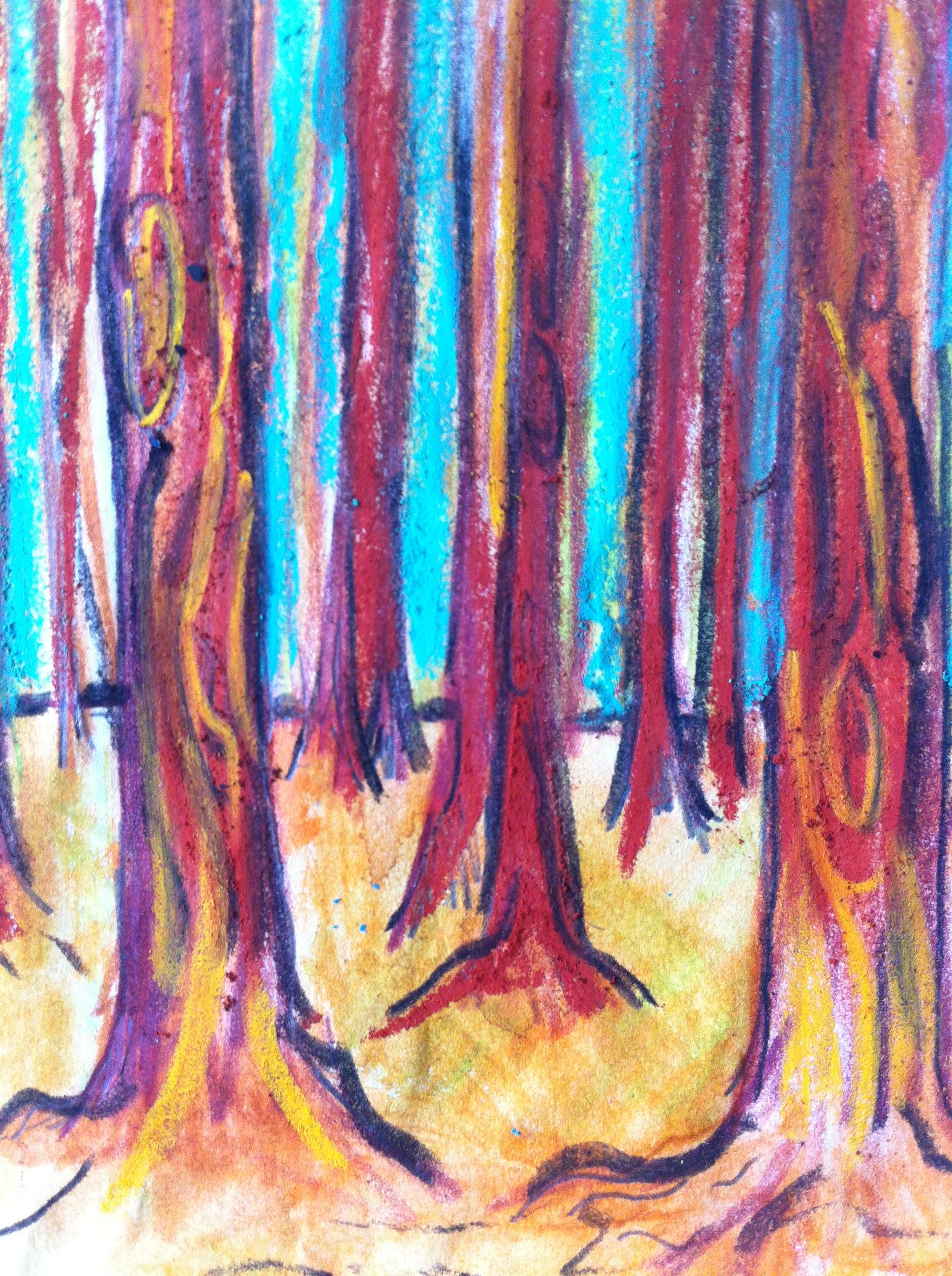 Forest at Görvälns naturreservat near Stockholm from my Sweden Sketchbook
