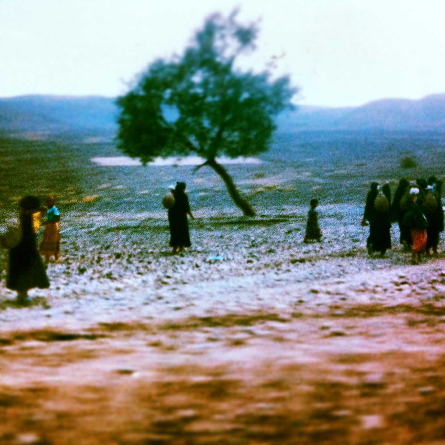 Women walking in rural Morocco