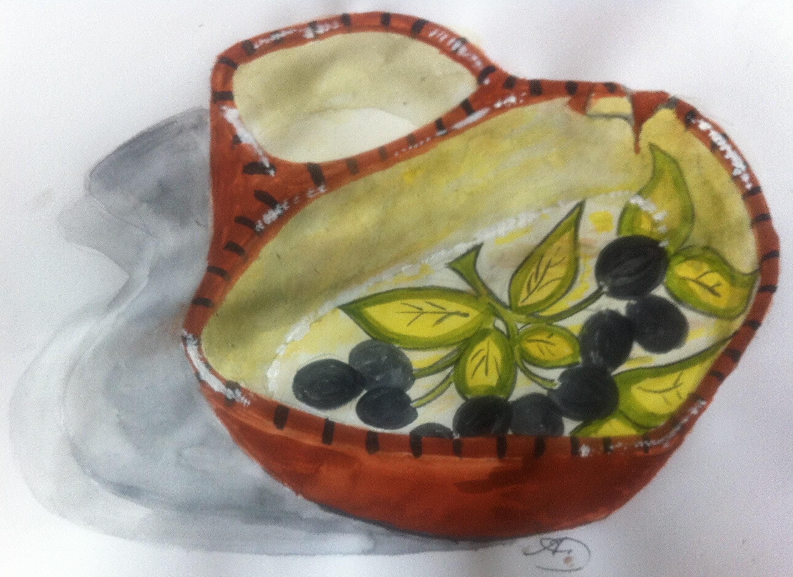 My Portuguese pottery Olive dish.