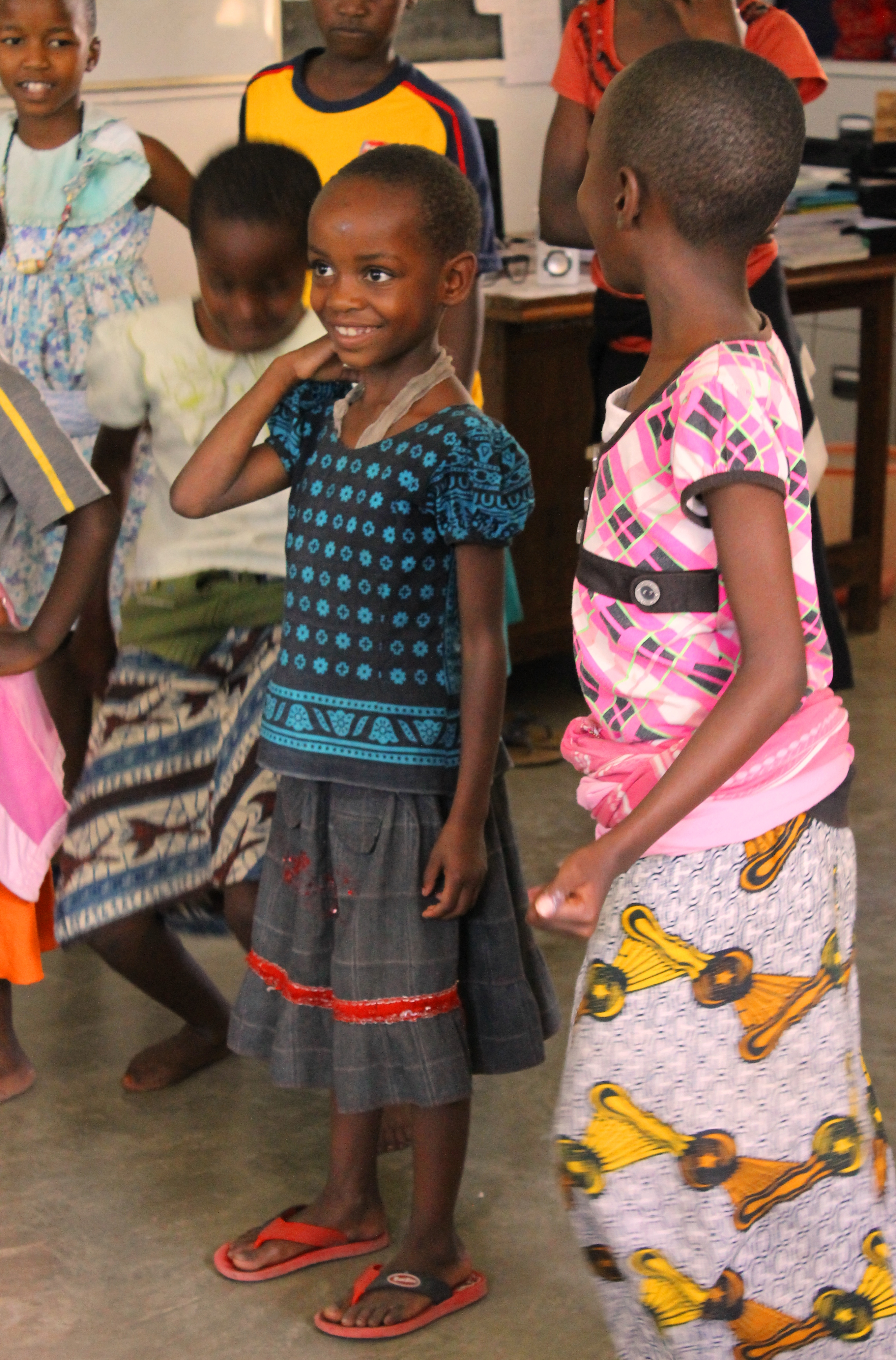 Learning some new dance steps on the International Day of the Girl Child, at Isamilo International School, Mwanza, Tanzania. .