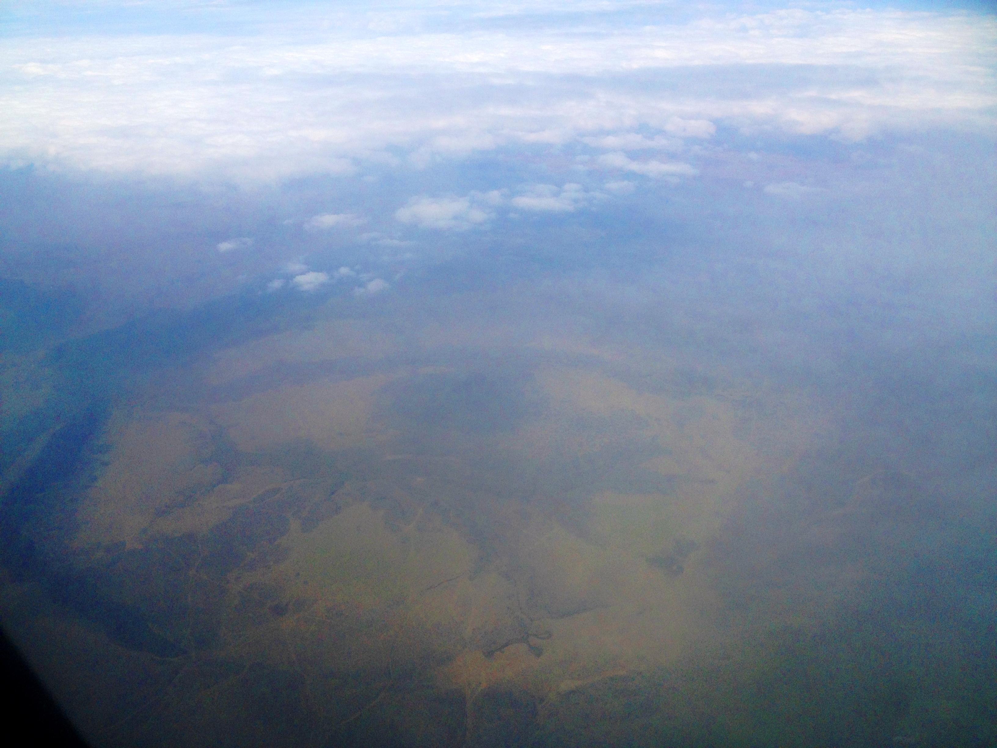 Flying over the Ngorogoro Crater