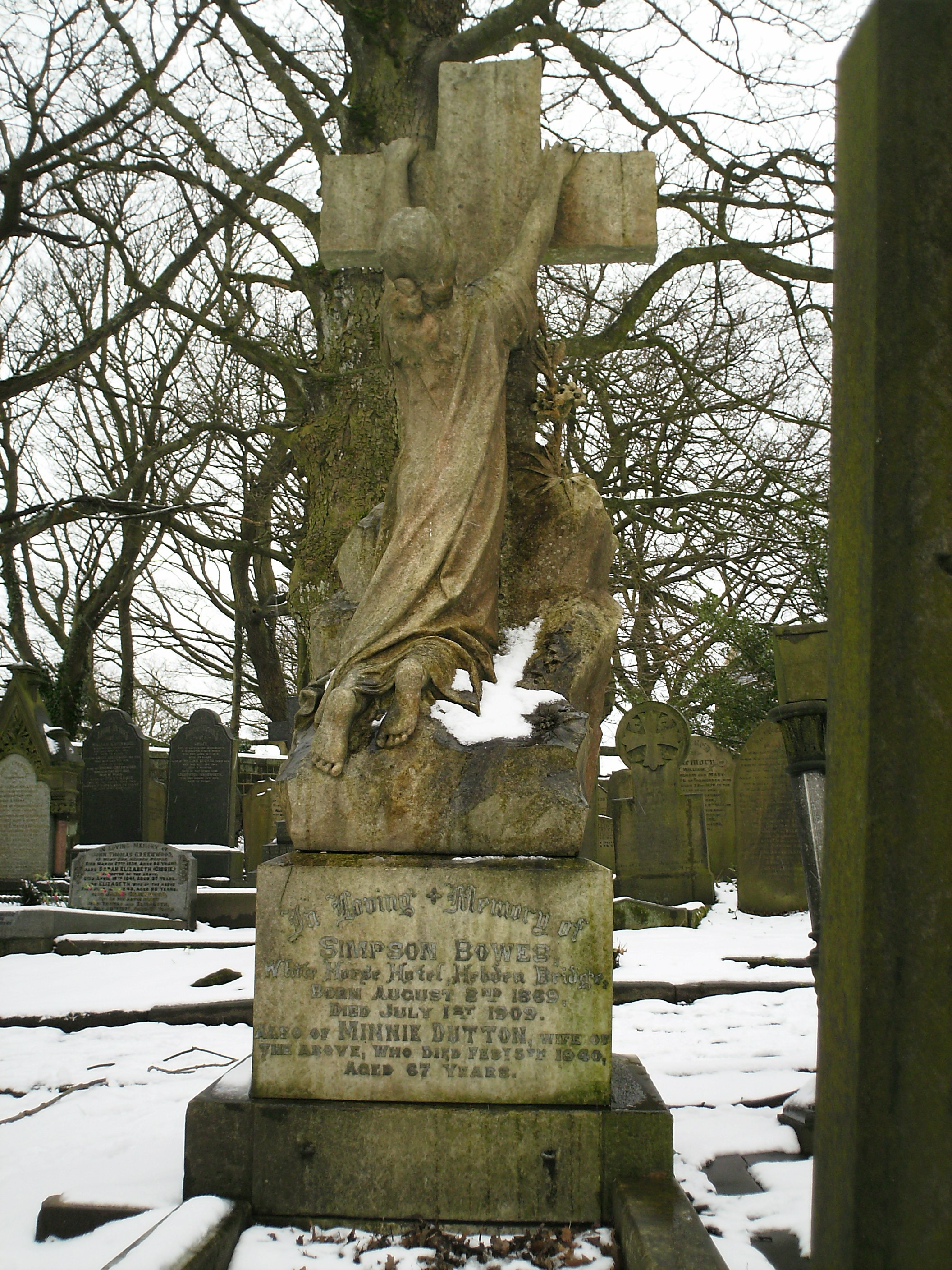 Grave in Heptonstall Cemetery in West Yorkshire